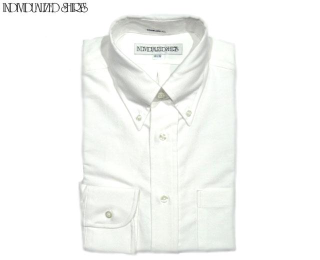 INDIVIDUALIZED SHIRTS(インディビジュアライズド シャツ)/L/S STANDARD FIT B.D. REGATTA OXFORD SHIRTS(オックスフォードボタンダウンシャツ)/white