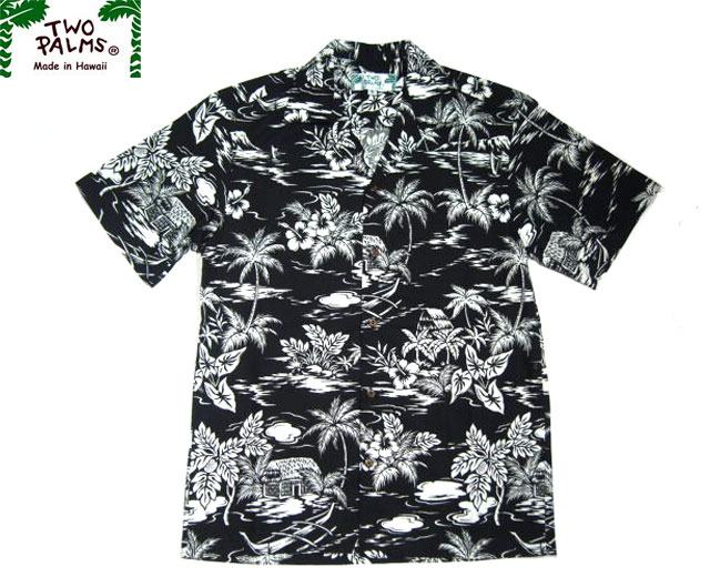 519bff7b TWO PALMS(토우・팜스)/LOVE SHACK COTTON HAWAIIAN SHIRTS(하와이안 셔츠)/ /black