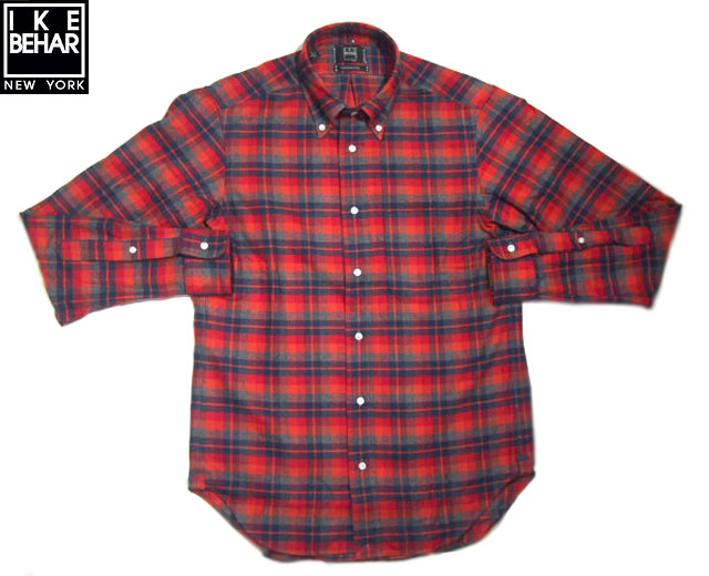 IKE BEHAR (アイクベーハー)/#MF1501LB FREED0M FIT L/S B.D CHECK FLANNEL SHIRTS/red x navy