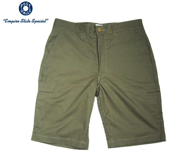 【期間限定30%OFF!】POST OVERALLS(ポストオーバーオールズ)/#2321S LIGHT TWILL CITI CRUZ SHORTS/army khaki