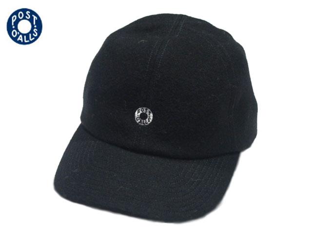 【あす楽対応】 POST OVERALLS(ポストオーバーオールズ)/#3903 WOOL FLANNEL BASEBALL CAP (ベースボールキャップ)/black