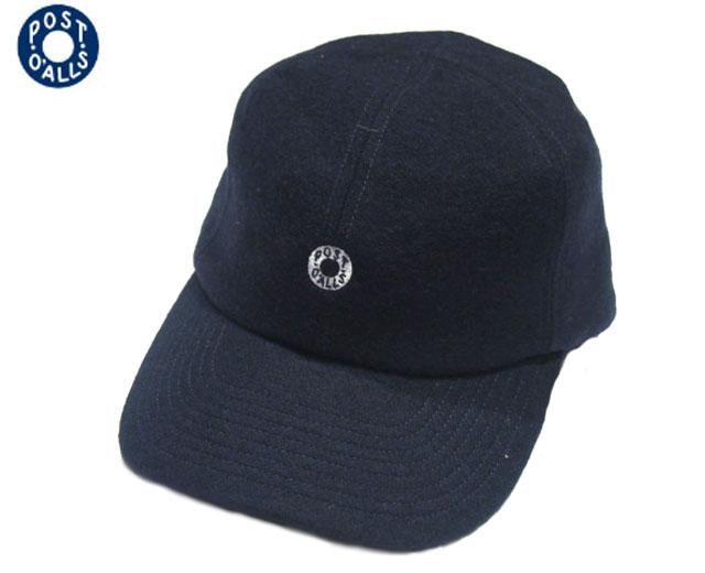 POST OVERALLS(ポストオーバーオールズ)/#3903 WOOL FLANNEL BASEBALL CAP (ベースボールキャップ)/navy