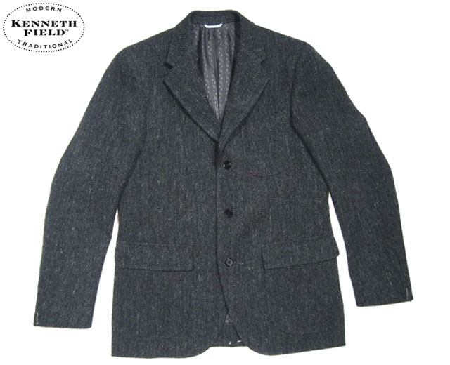 【期間限定30%OFF!】KENNETH FIELD(ケネスフィールド)/50's FOX HERRINGBONE SPORTS JACKET/charcoal