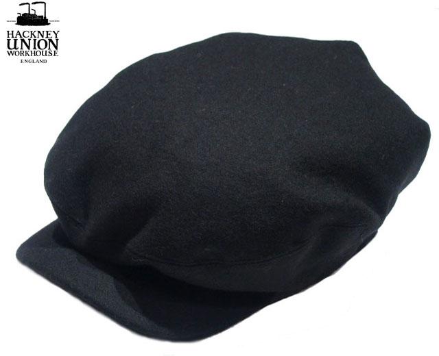 HACKNEY UNION WORKHOUSE(ハックニーユニオン・ワークハウス)/SAVOY CAP(サヴォイキャップ)/black