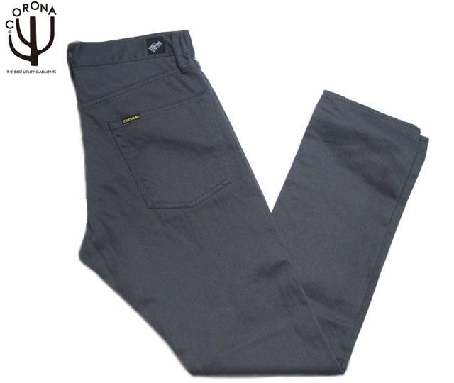 CORONA(コロナ)/#CP001S-1610G PIQUE FIVE POCKET PANTS/charcoal grey