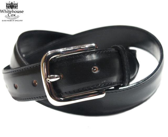 WHITEHOUSE COX(ホワイトハウスコックス)/B8665 28mm BRIDLE LEATHER BELT(ブライドルレザーベルト)/black