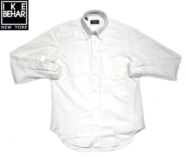 IKE BEHAR(アイクベーハー)/#MF1301N2 L/S B.D OXFORD SHIRTS(オックスフォード・ボタンダウンシャツ)/white