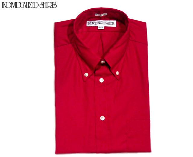 【期間限定30%OFF!】 INDIVIDUALIZED SHIRTS(インディビジュアライズド シャツ)/L/S STANDARD FIT B.D. POPLIN SHIRTS(ボタンダウンシャツ)/red