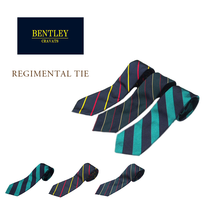 BENTLEY CRAVATS(ベントレークラバッツ)/ SILK REGIMENTAL TIE(シルク・レジメンタル・ネクタイ) /MADE IN U.S.A.