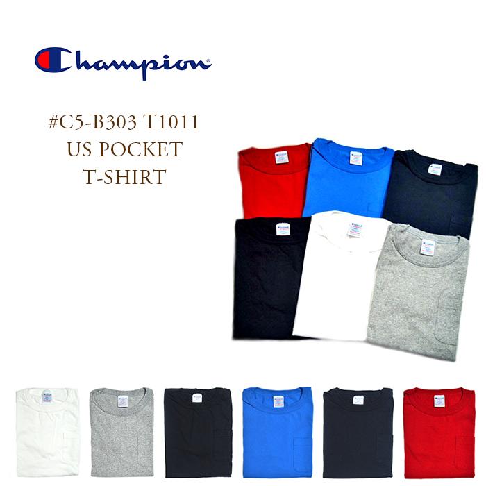 0a870266 travels: CHAMPION (champion) /#C5-B303 T1011 US POCKET T-SHIRTS (US ...