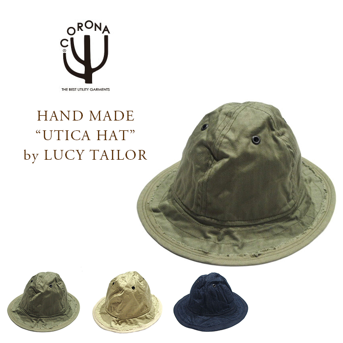 """CORONA(コロナ)/#CA005 HAND MADE """"UTICA HAT"""" by LUCY TAILOR"""