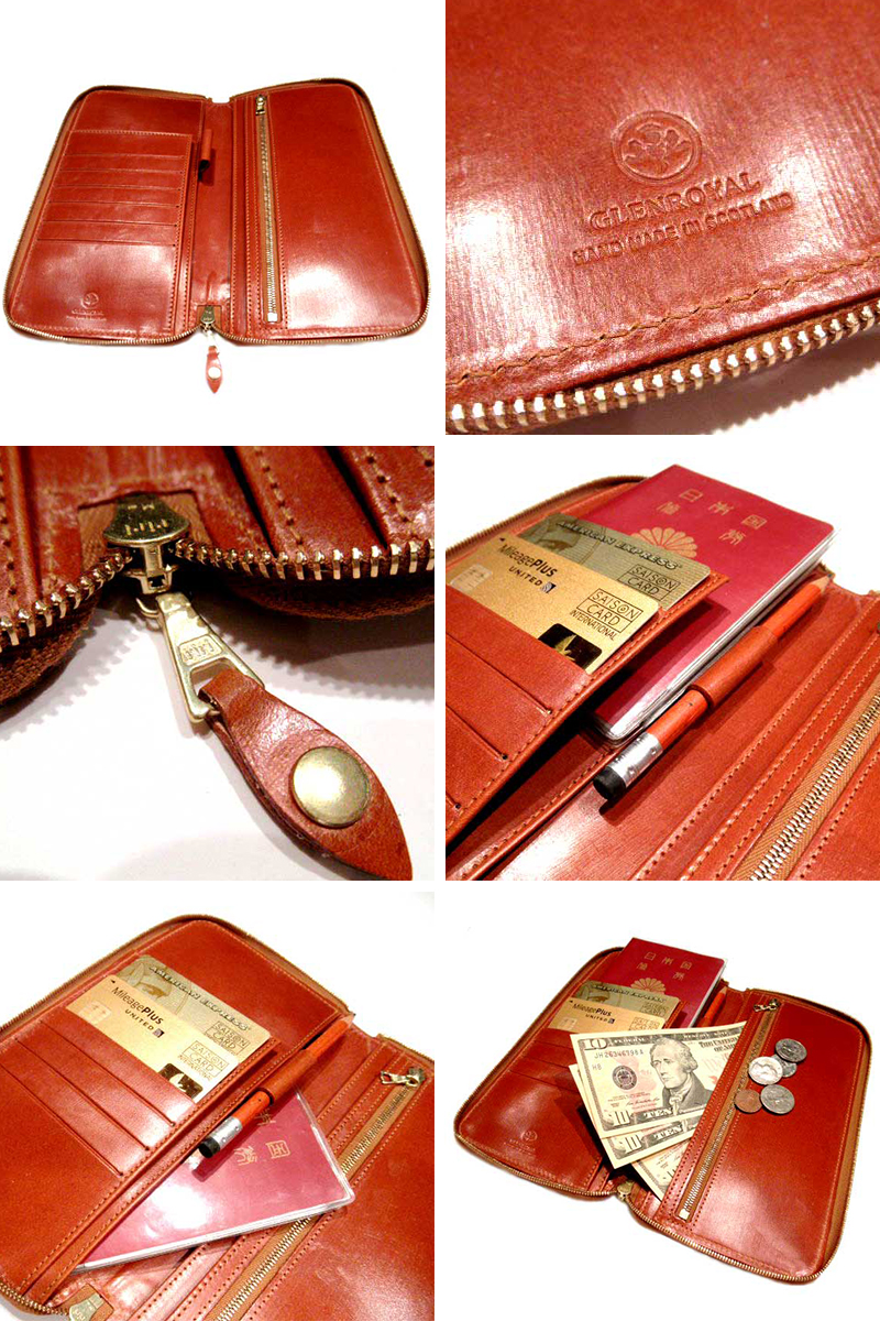 GLENROYAL (glenroyal) /bridle 皮革 /TRAVEL 錢包 (trabelvoletto)