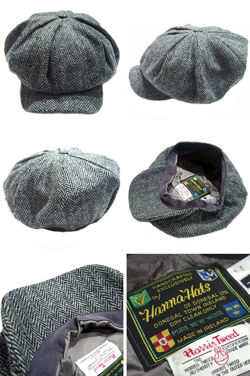 ☆ HANNA HAT  a newsboy cap using HARRIS TWEED (Harris Tweed) by