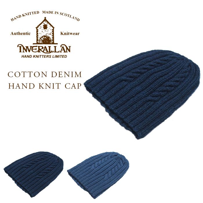 INVERALLAN(インバーアラン)/22F COTTON&DENIM HAND KNIT CAP(コットン&デニムハンドニットキャップ)