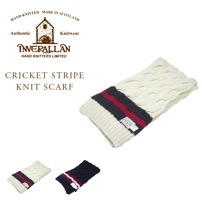 INVERALLAN(インバーアラン)/INVERALLAN CRICKET STRIPE KNIT SCARF