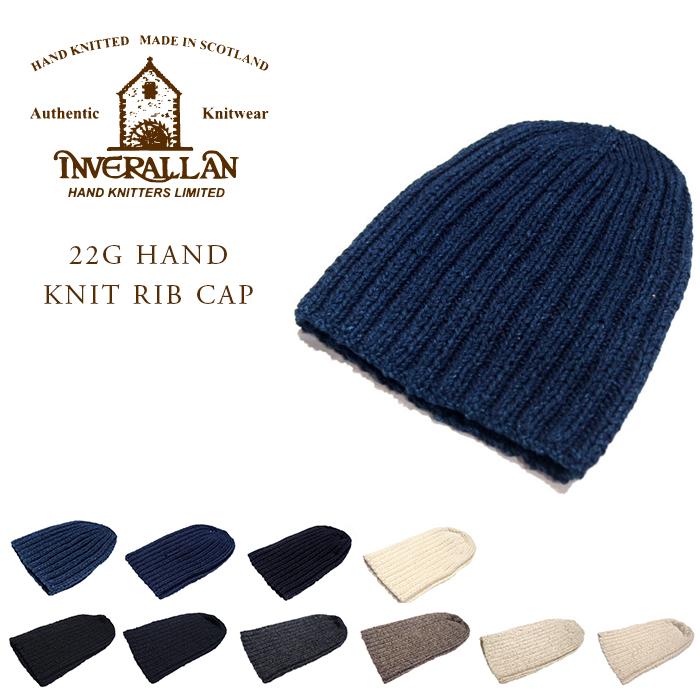 INVERALLAN(インバーアラン)/22G HAND KNIT RIB KNIT CAP(ハンドニットキャップ)