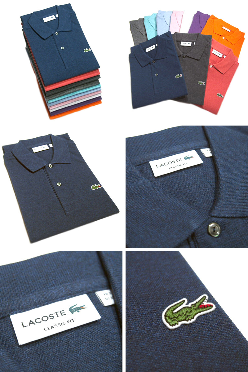 67c7baab ... LACOSTE JAPAN (Lacoste) /L1264AL HEATHERED POLO (marbled polo shirt) /  MADE