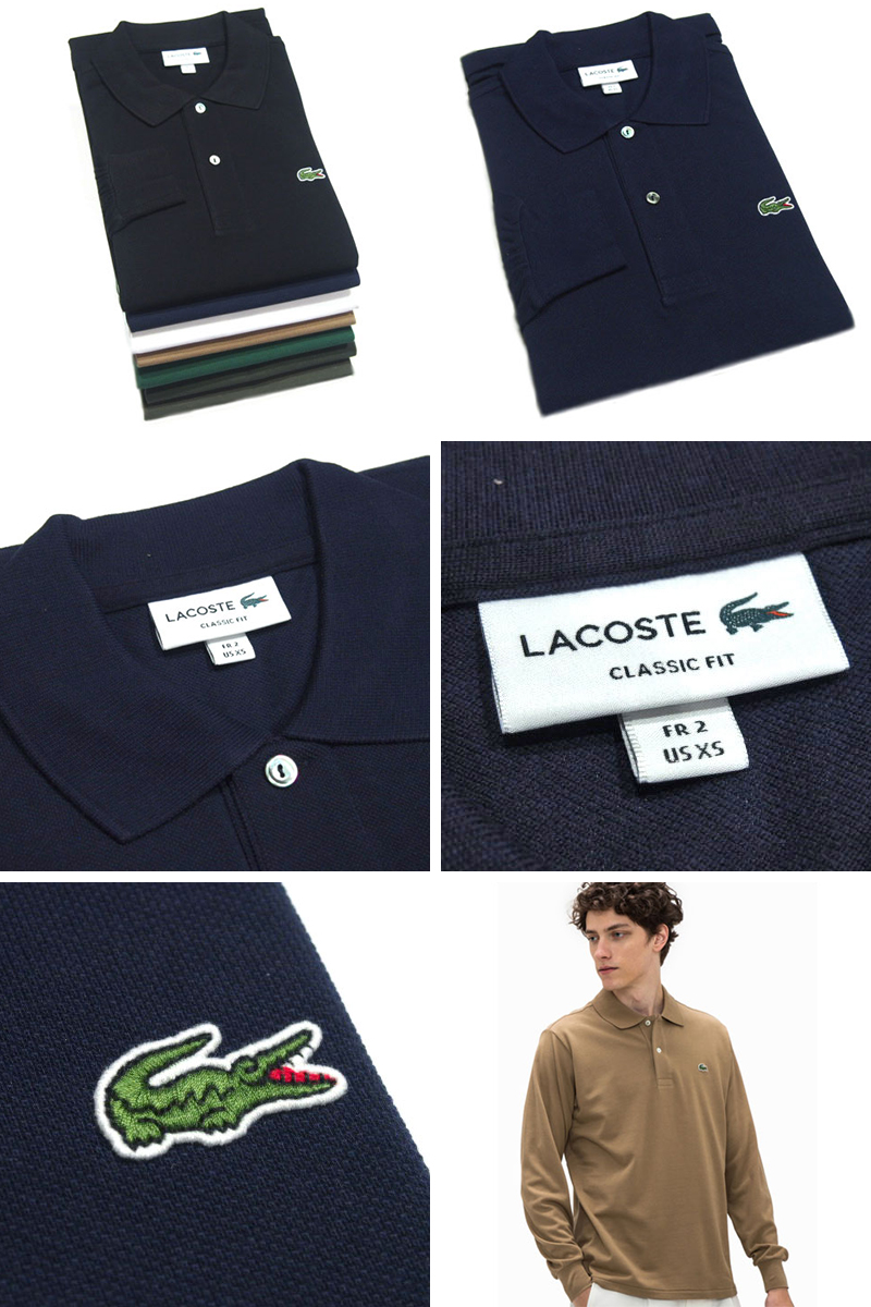5d5a142d ... JAPAN LACOSTE (Lacoste) /L1312A SOLID LONG SLEEVE POLO/made in Japan