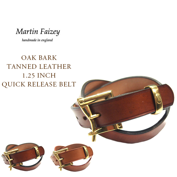 MARTIN FAIZEY(マーティンフェイジー)/OAK BARK TANNED LEATHER 1.25 INCH QUICK RELEASE BELT