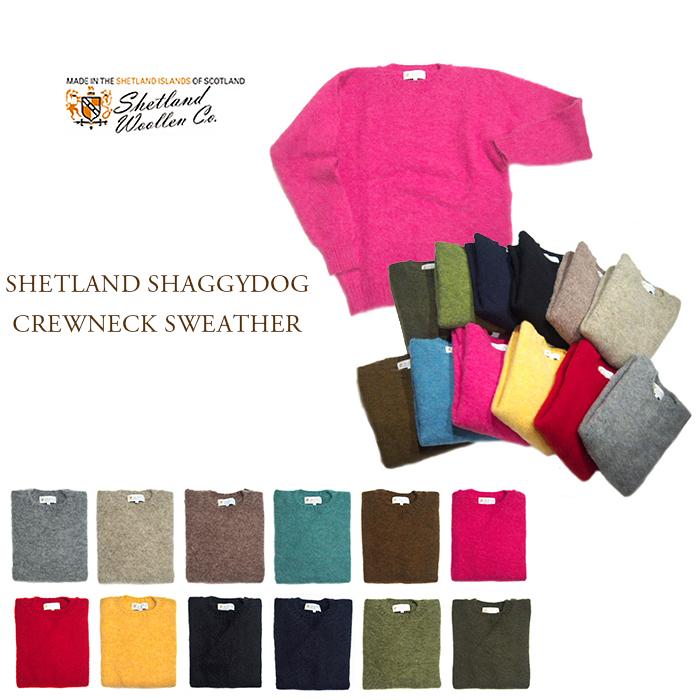 【期間限定40%OFF!】SHETLAND WOOLLEN (シェットラッドウーレン)/SHETLAND SHAGGYDOG CREWNECK SWEATER(シャギードッグ・シェットランドセーター)