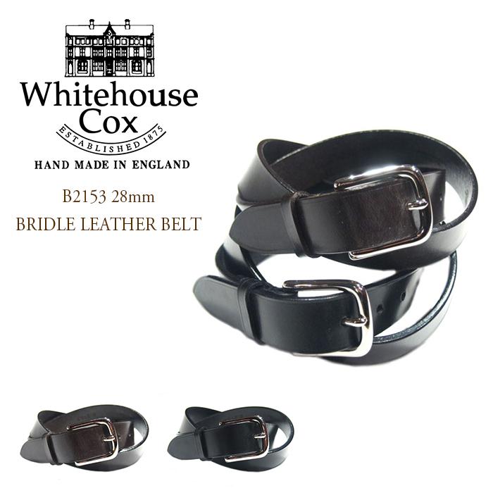 WHITEHOUSE COX(ホワイトハウスコックス)/B2153 28mm BRIDLE LEATHER BELT(ブライドルレザー・ベルト)