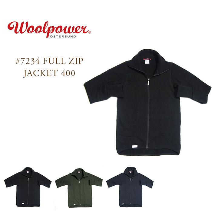 WOOLPOWER(ウールパワー)/#7234 FULL ZIP JACKET 400(フルジップジャケット400)/MADE IN SWEDEN