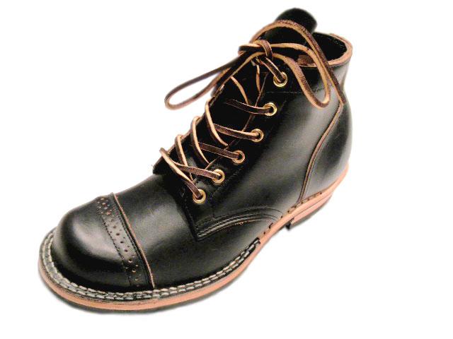 VIBERG (vayburgh) / # 1950年服务靴圆趾 (サービスブーツラウンドトウ) /VINTAGE CHROMEXCEL/黑色