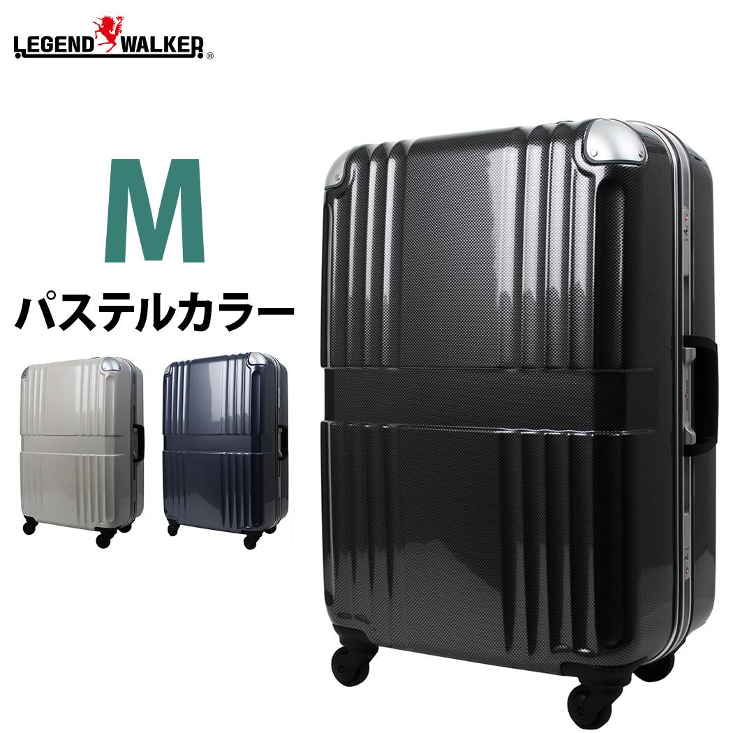 キャリーケース 保証付き TSAロック スーツケース キャリーケース キャリーバッグ 旅行用品 5日6日7日 PC100%樹脂 鏡面 TSAロック フレームタイプ 中型 Mサイズ 旅行かばん 6020-62