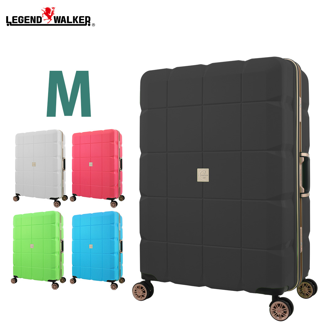 スーツケース キャリーケース キャリーバッグ 旅行用品 キャリーバック LEGEND WALKER ARC レジェンドウォーカー Mサイズ フレーム W-6023-60 ダブルキャスター 100%PP超強ボディー