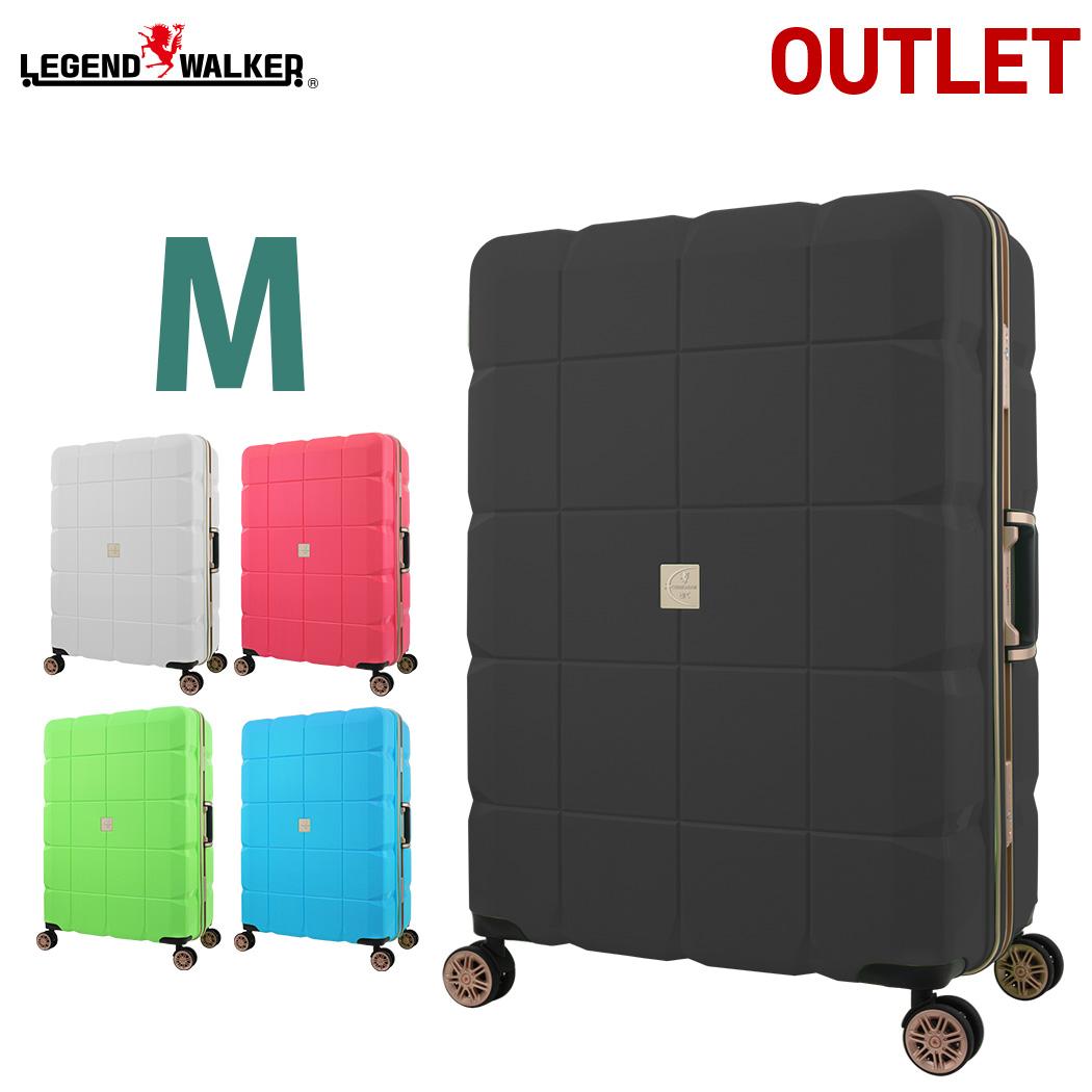 【アウトレット】 スーツケース キャリーケース キャリーバッグ 旅行用品 LEGEND WALKER ARC レジェンドウォーカー Mサイズ フレーム B-6023-60 ダブルキャスター 100%PP超強ボディー