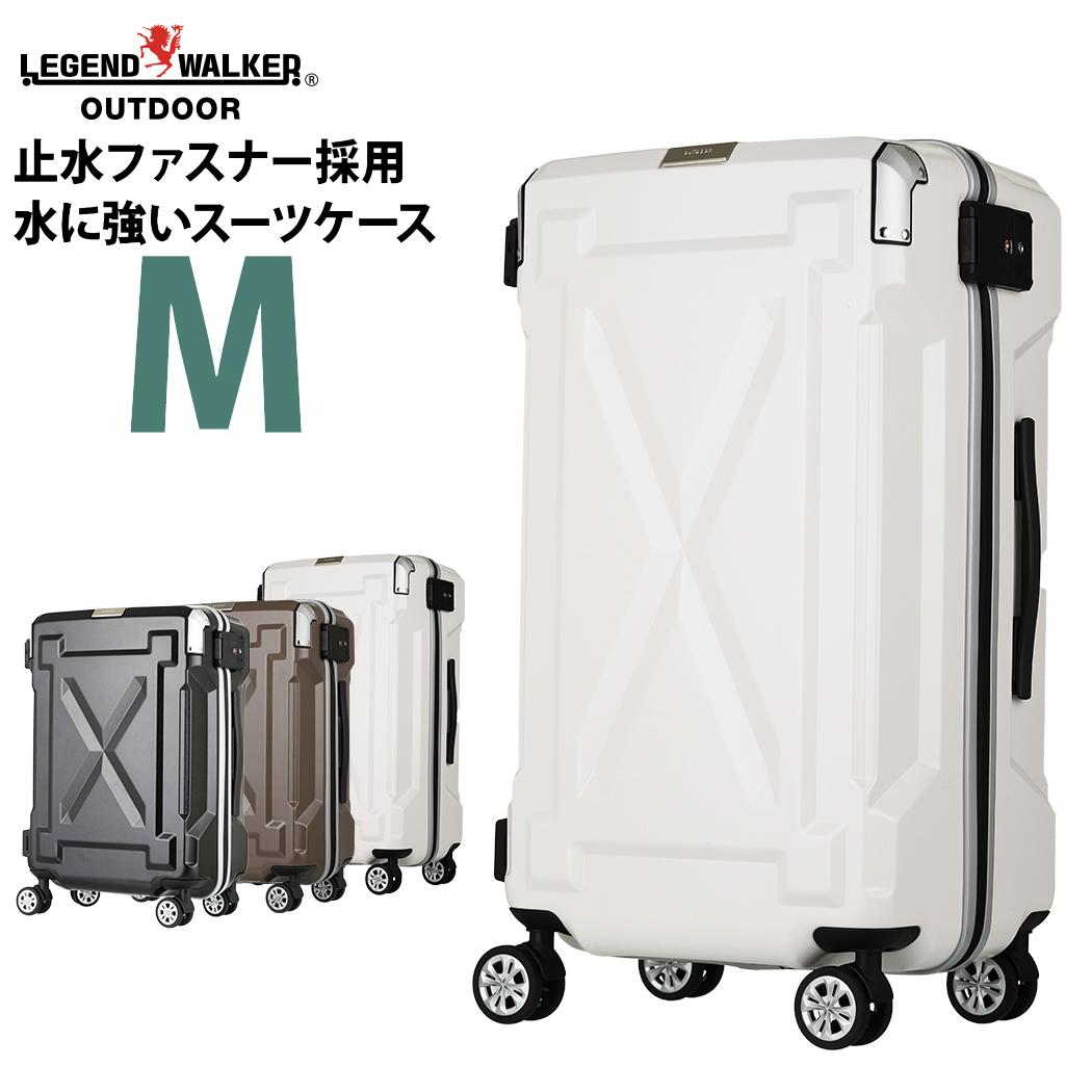 スーツケース キャリーケース キャリーバッグ M サイズ 超軽量 PC100%素材 フレーム キャリーバック 旅行用かばん 中型 5日 6日 7日 無料受託手荷物  158cm 以内 アウトドア W-6304-61