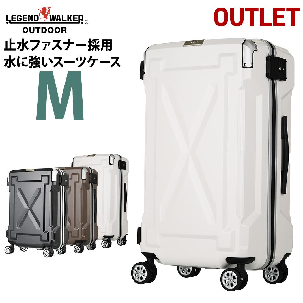 アウトレット スーツケース キャリーケース キャリーバッグ M サイズ 超軽量 PC100%素材 フレーム キャリーバック 旅行用かばん 中型 5日 6日 7日 無料受託手荷物  158cm 以内 アウトドア『B-6304-61』