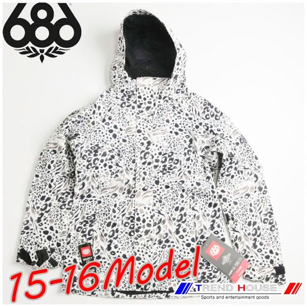2016 686 レディース スノージャケット Wms AUTHENTIC Smarty Catwalk Jacket Grey Animal Print/S L5W312A シックスエイトシックス six-eight-six