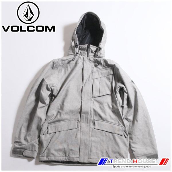 ボルコム 16-17 メンズジャケット マイルインスジャケット MAILS INS JKT G0451706-GRY-S VOLCOM