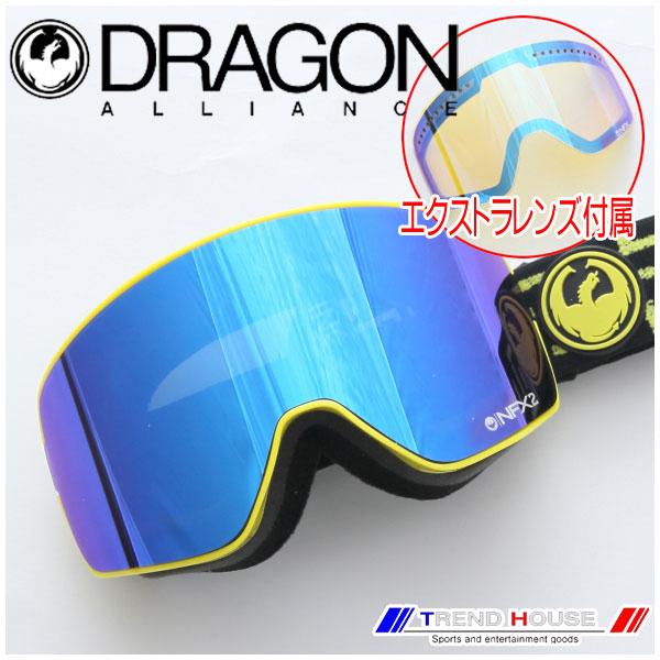 ドラゴン ゴーグル NFX2 West/Dark Smoke Blue+Yellow Blue Ion 722-5523 DRAGON