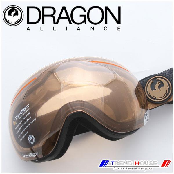 ドラゴン ゴーグル X1 Flux Brown/Transitions Amber 722-6272 DRAGON