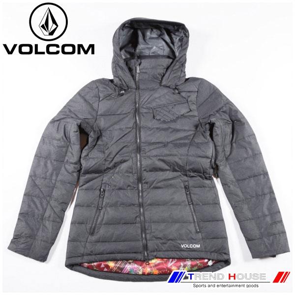ボルコム ウェア レディース FERGUSON DOWN JACKET BLK/L VOLCOM H0551302