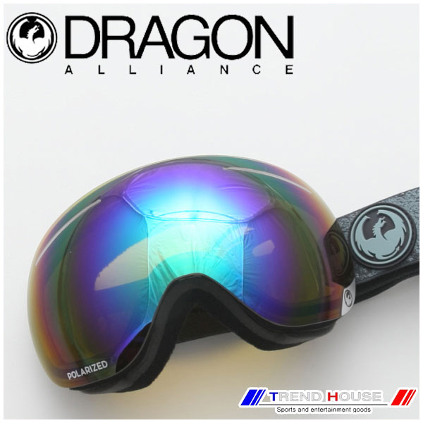 Grey/Flash X1 ゴーグル 722-6274 Green Mason DRAGON ドラゴン Polarized