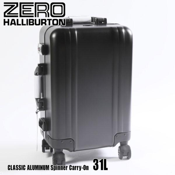 ゼロハリバートン クラシック アルミ Spinner Carry-On 31L ZRC19A Black 94361 CLASSIC ALUMINUMスーツケース ZERO HALLIBURTON