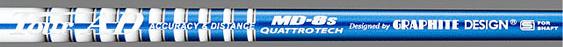 取寄せ商品 代引き不可:発送7営業日前後 グラファイトデザイン ツアーAD クアトロテック シャフト / Graphite Design Tour AD QUATTROTECH MD-8 shaft