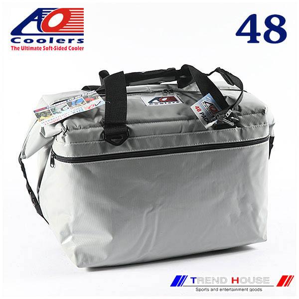 AO Coolers 48PACK VINYL SILVER / AOクーラーズ ビニールソフトクーラー 48パックシルバー