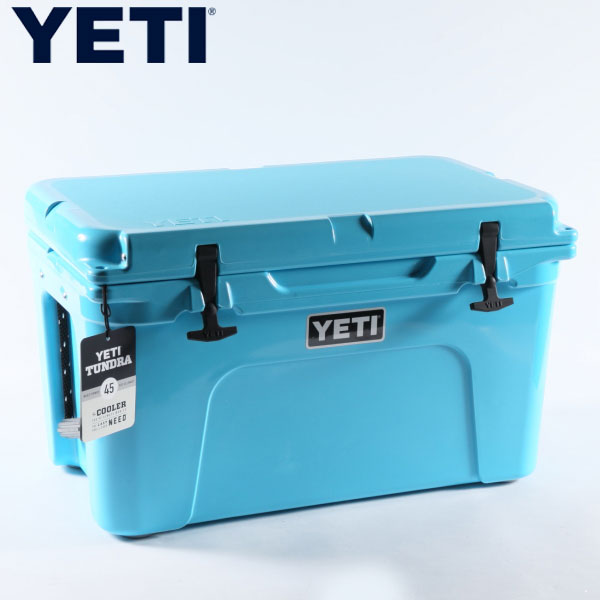 Yeti air conditioners limited model tongue gong 45 leaf blue Tundra 45 Reef  Blue YETI Coolers