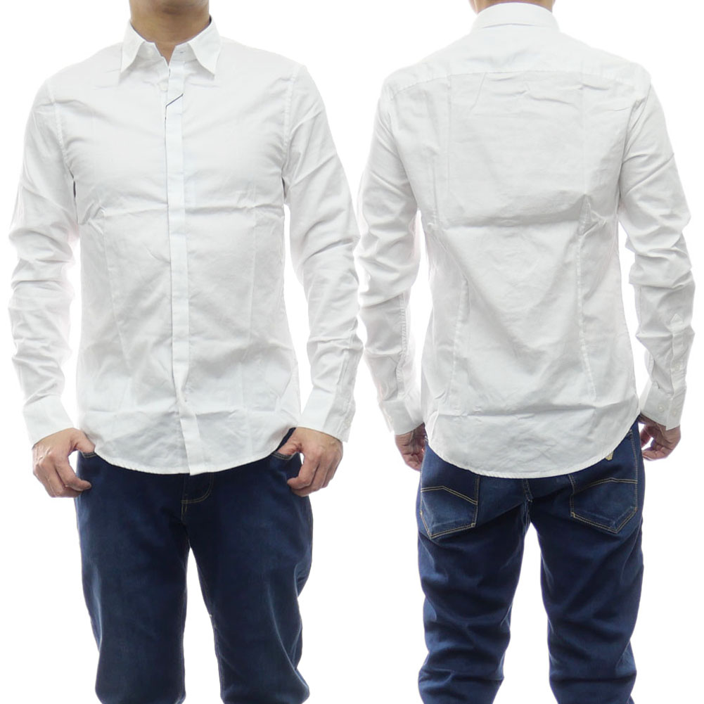 ARMANI EXCHANGE アルマーニエクスチェンジ メンズコットンシャツ 8NZCBG Z8ANZ ホワイト /2020春夏新作