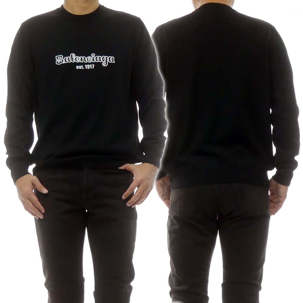 BALENCIAGA バレンシアガ メンズクルーネックセーター 583081 T1478 ブラック