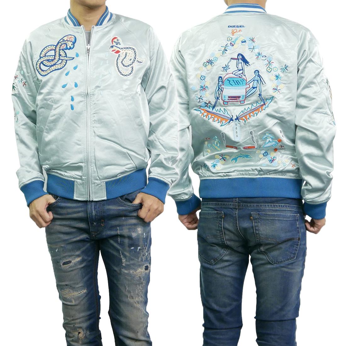 DIESEL ディーゼル メンズリバーシブルボンバージャケット J-ROCKET / 00SZDF 0EAPS ブルー 【あす楽対応】