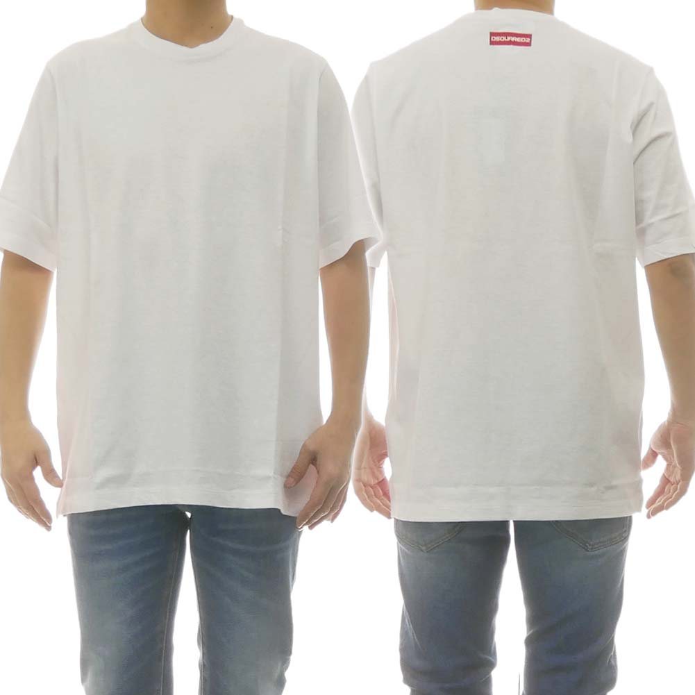 DSQUARED2 ディースクエアード メンズクルーネックTシャツ S78GD0043 S22507 ホワイト /2020春夏新作