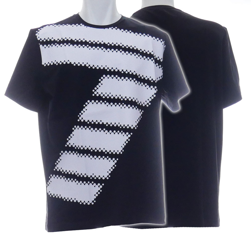EMPORIO ARMANI エンポリオアルマーニ EA7 メンズクルーネックTシャツ 3HPT54 PJP6Z ブラック /2020春夏新作