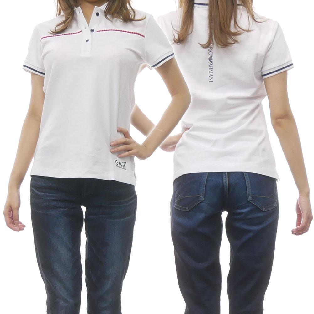 EMPORIO ARMANI エンポリオアルマーニ EA7 レディースポロシャツ 3GTF53 TJI13Z ホワイト