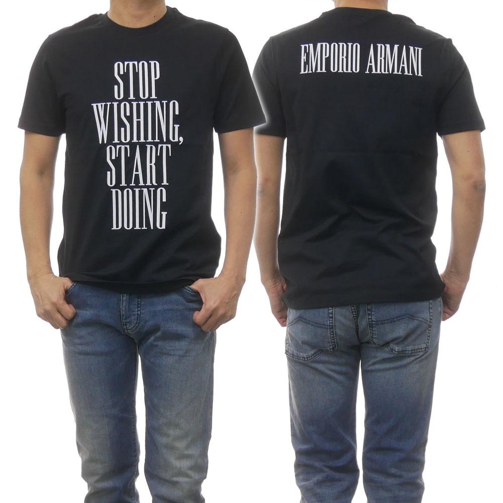 EMPORIO ARMANI エンポリオアルマーニ メンズクルーネックTシャツ 3G1T86 1J15Z ブラック /2019春夏新作