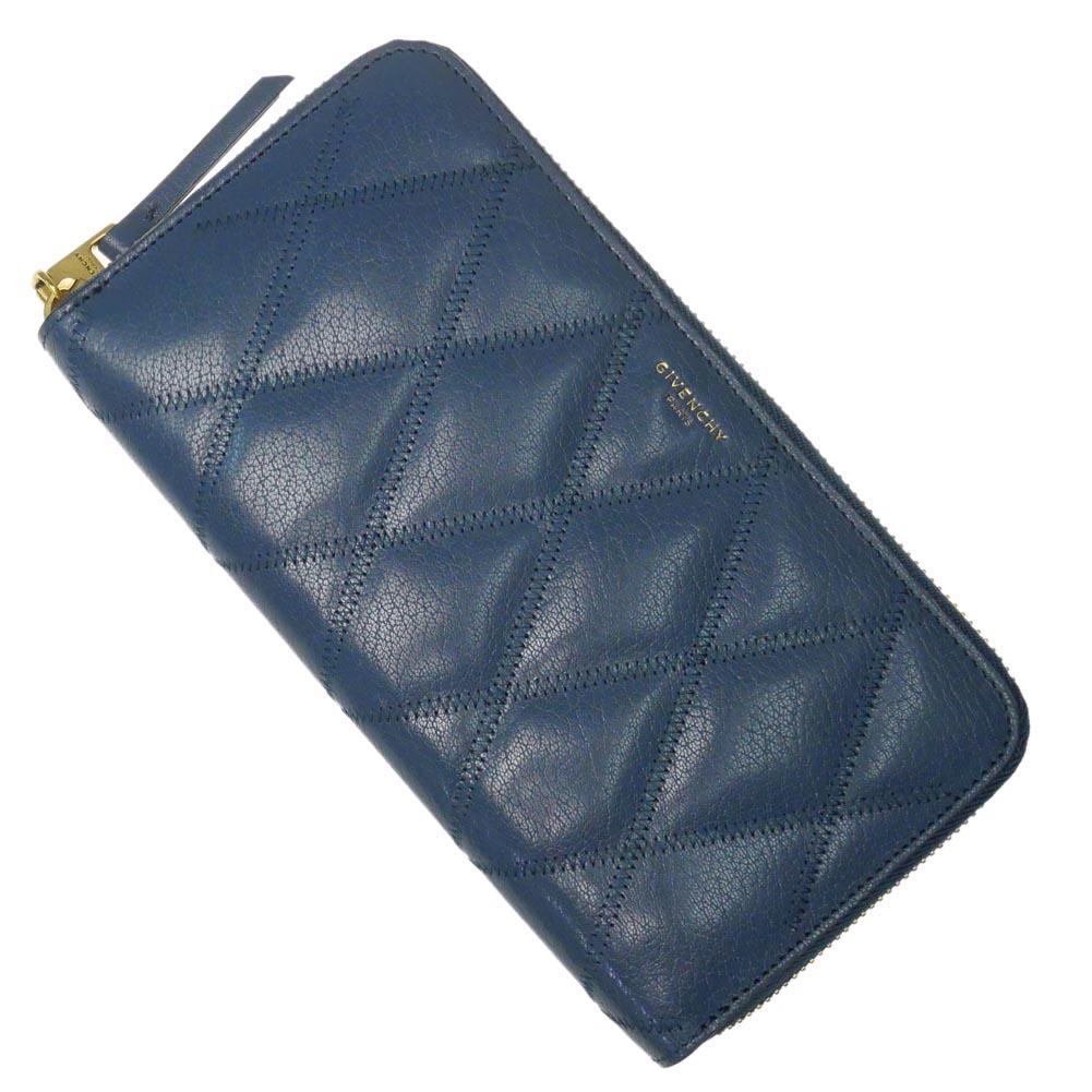 (ジバンシー)GIVENCHY レディースラウンドファスナー長財布(小銭入れ付き) BB608NB08Z オイルブルー